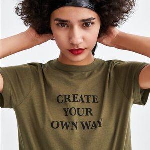 ZARA Green T-Shirt - Worn Once